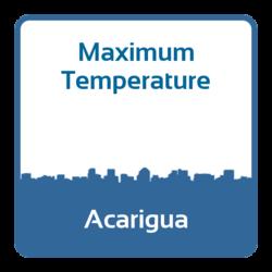 Maximum temperature - Acarigua (Venezuela)