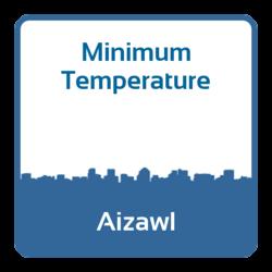 Minimum temperature - Aizawl (India)
