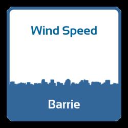 Wind speed - Barrie (Canada)
