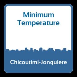 Minimum temperature - Chicoutimi-Jonquiere (Canada)