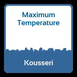 Maximum temperature - Kousseri (Cameroon)