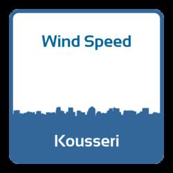 Wind speed - Kousseri (Cameroon)
