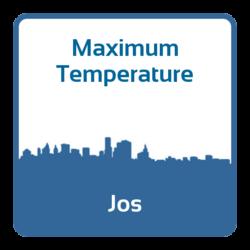 Maximum temperature - Jos (Nigeria)