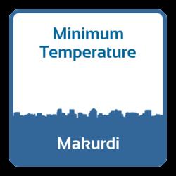 Minimum temperature - Makurdi (Nigeria)