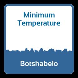 Minimum temperature - Botshabelo (South Africa)